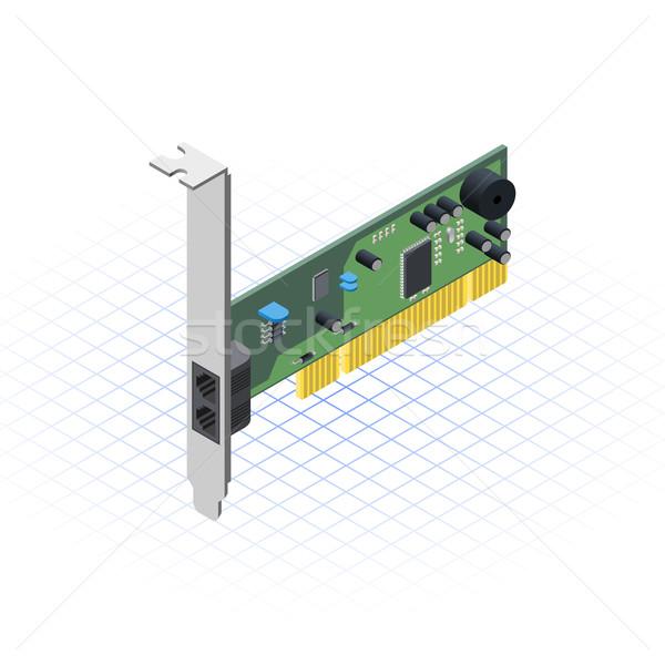 Isométrica rede cartão tecnologia gráfico ferragens Foto stock © ridjam