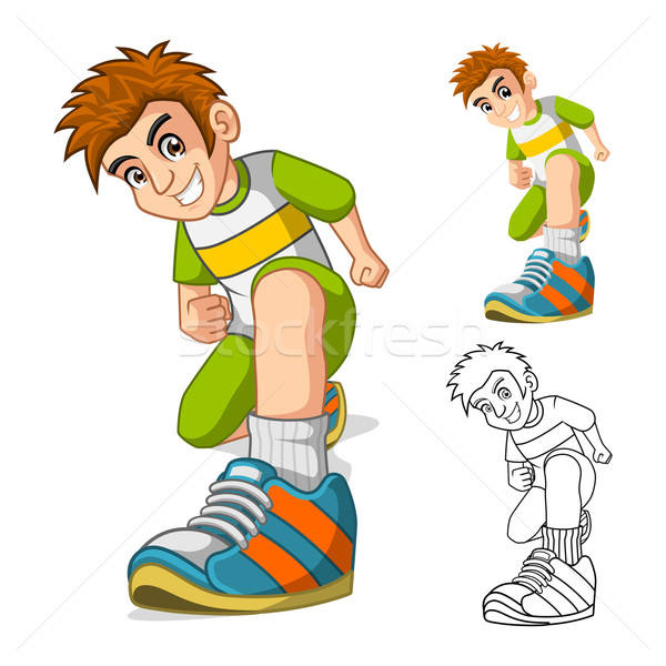 Perspective View of Kid Shoes Cartoon Character Stock photo © ridjam