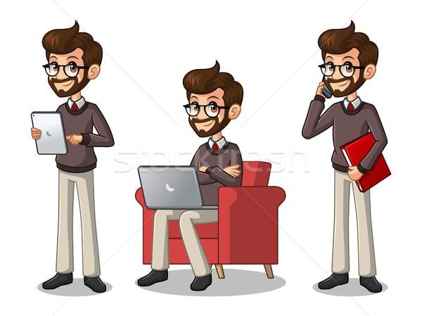 Conjunto empresário trabalhando Foto stock © ridjam