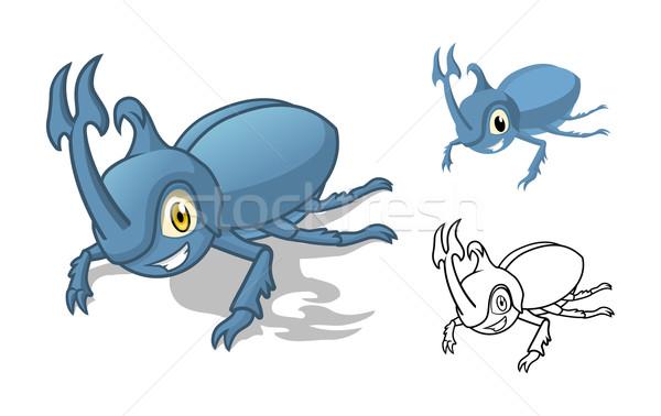 Rhino Beetle Cartoon Character Stock photo © ridjam