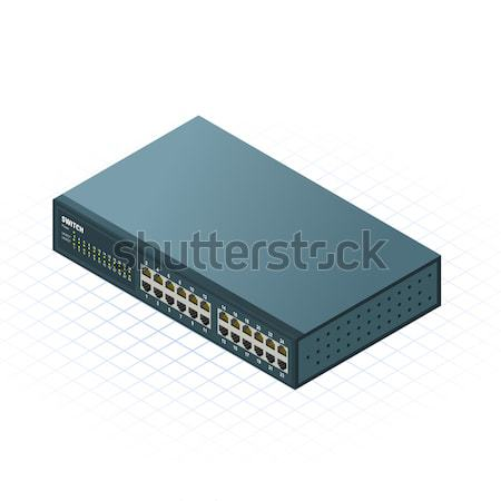 Isometric Switch with Up link Port Stock photo © ridjam