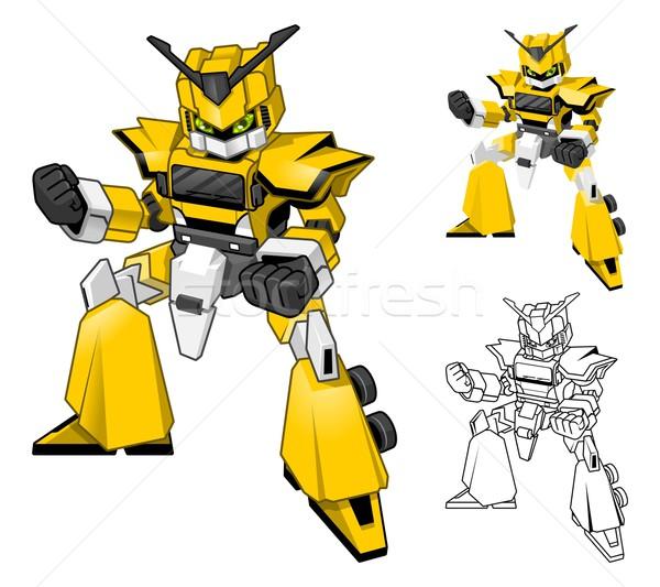 Robot Truck Cartoon Character  Stock photo © ridjam