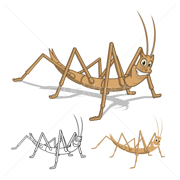 Stick Insect Cartoon Character Stock photo © ridjam