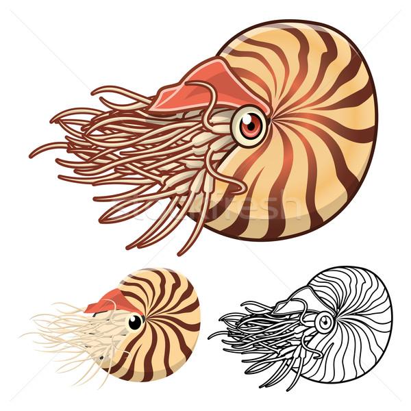 Nautilus Cartoon Character Stock photo © ridjam