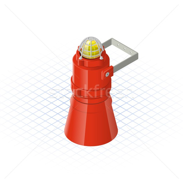 Isometric Beacon with Loudspeaker Alarm Horn Sounder Stock photo © ridjam