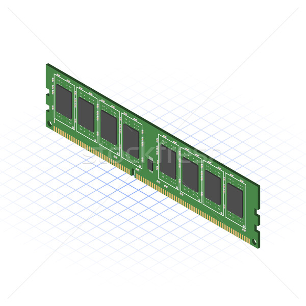Isometric RAM Stock photo © ridjam