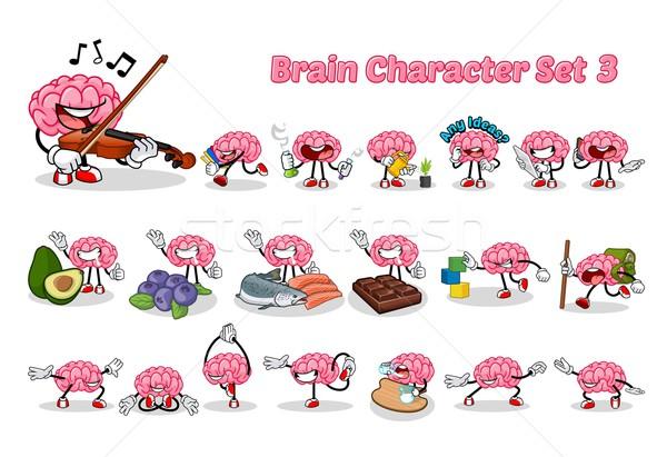 Cerveau trois image musique Photo stock © ridjam