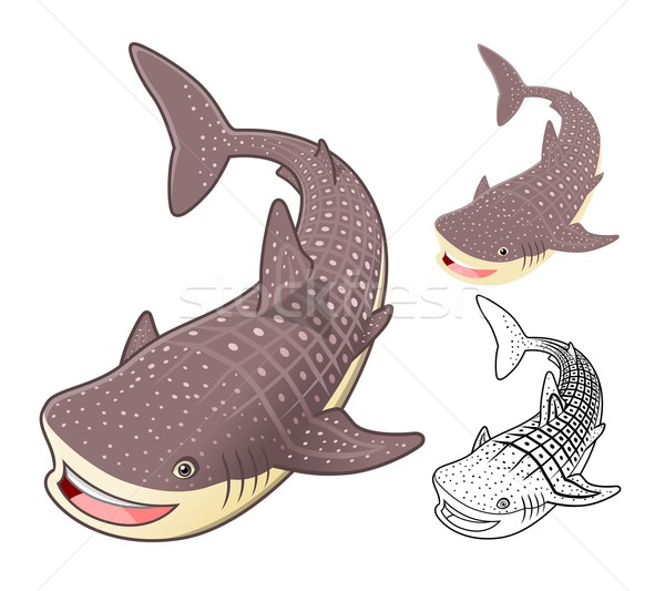Stock photo: Whale Shark Cartoon Character