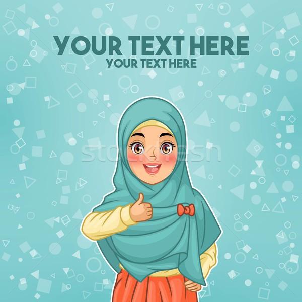 Muszlim nő visel hidzsáb remek fiatal Stock fotó © ridjam