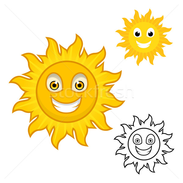 Sun Cartoon Character  Stock photo © ridjam