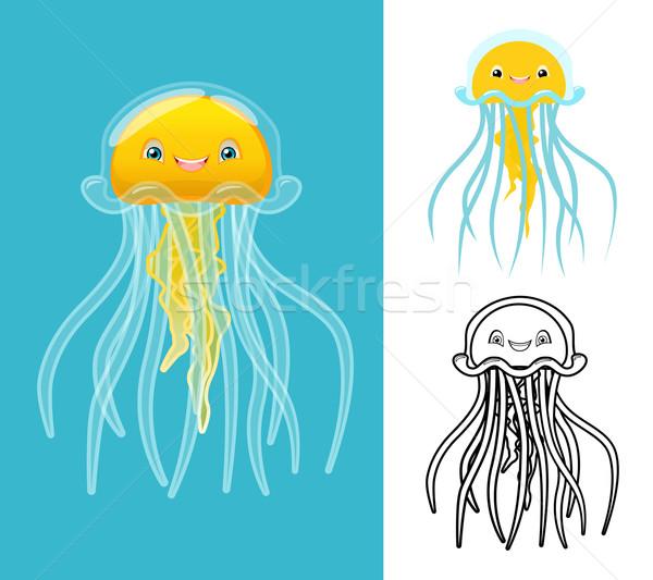 медуз высокий качество дизайна линия Сток-фото © ridjam