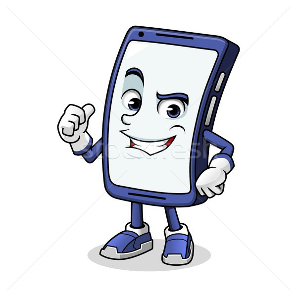 Smartphone Mascot Giving a Thumbs Up Stock photo © ridjam