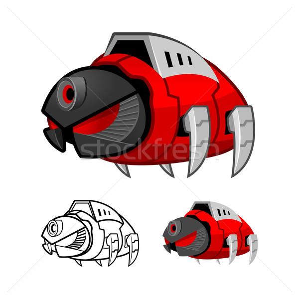 Foto stock: Robot · cucaracha · diseno · fondo · guerra