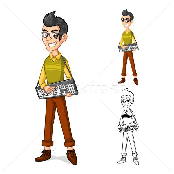 Geek талисман подробный Сток-фото © ridjam