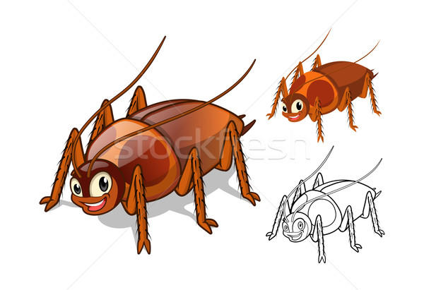 Cockroach Cartoon Character  Stock photo © ridjam