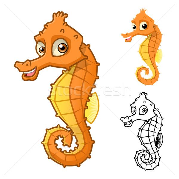 Sea Horse Cartoon Character Stock photo © ridjam