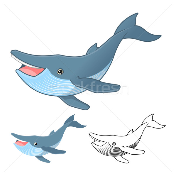 Humpback Whale Cartoon Character Stock photo © ridjam