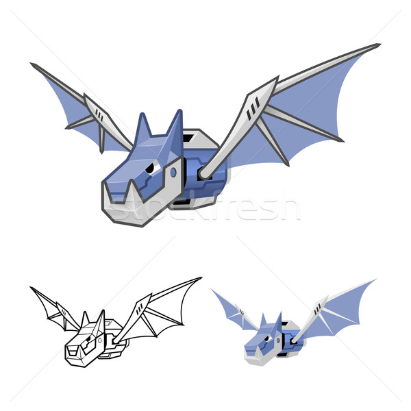 Robot Bat Cartoon Character Stock photo © ridjam