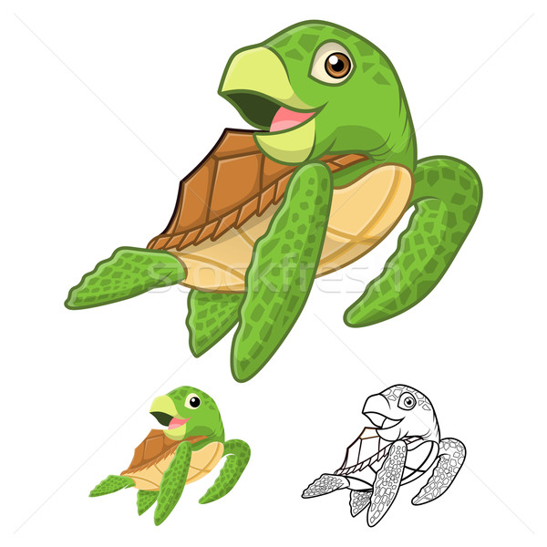 Sea Turtle Cartoon Character Stock photo © ridjam