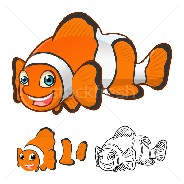 Common Clown Fish Cartoon Character Stock photo © ridjam