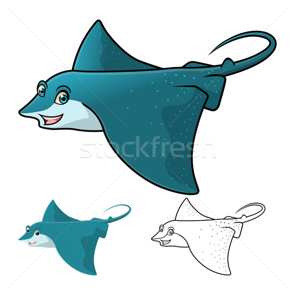 Eagle Ray Cartoon Character Stock photo © ridjam