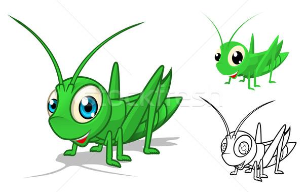 Szöcske rajzfilmfigura magas minőség részletes terv Stock fotó © ridjam