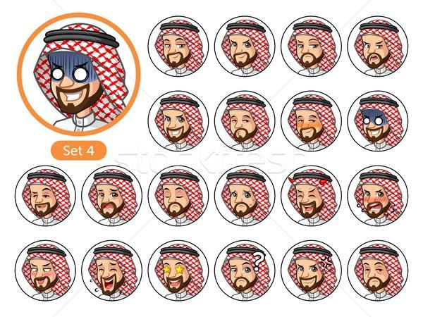 Vierde ingesteld saudi arab man Stockfoto © ridjam