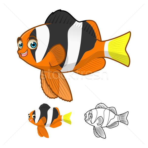 Amarelo cauda palhaço peixe alto Foto stock © ridjam