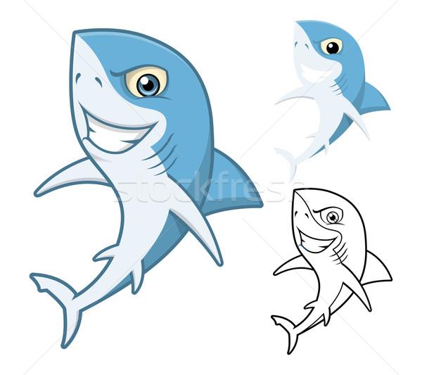 Shark Cartoon Character Stock photo © ridjam