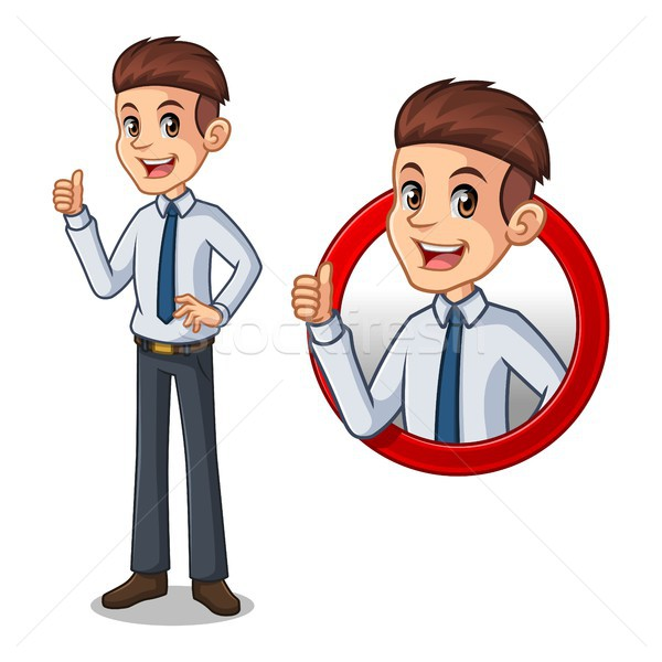Set of businessman in shirt inside the circle logo concept Stock photo © ridjam