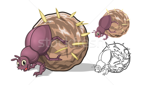 Dung Beetle Cartoon Character  Stock photo © ridjam