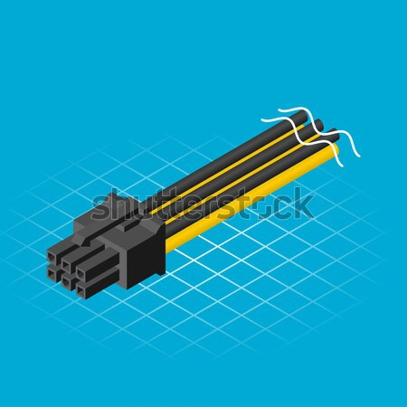 Isometric Six Pin Connector  Stock photo © ridjam