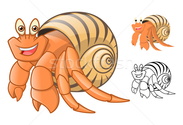 Hermit Crab Cartoon Character Stock photo © ridjam