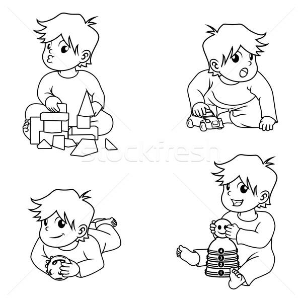 Bebês jogar brinquedos linha Foto stock © ridjam
