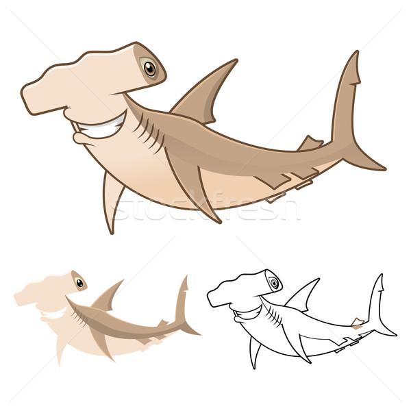 Köpekbalığı yüksek kalite dizayn hat Stok fotoğraf © ridjam