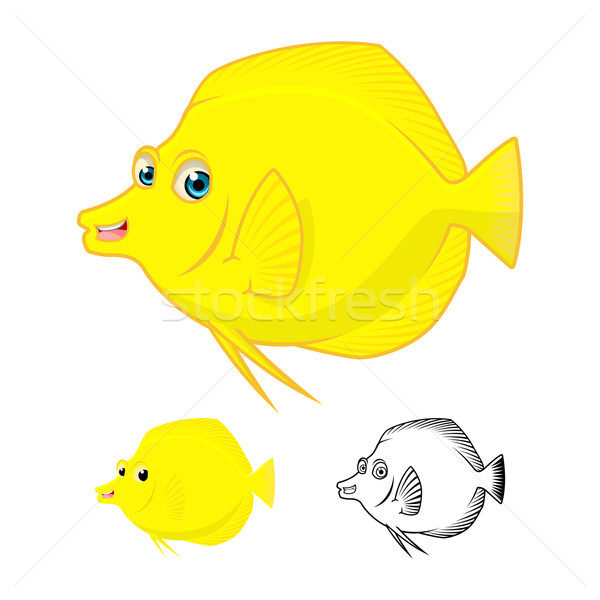 Yellow Tang Fish Cartoon Character  Stock photo © ridjam