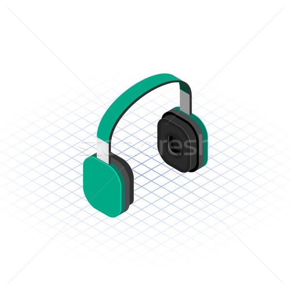 Isometric Headset Stock photo © ridjam