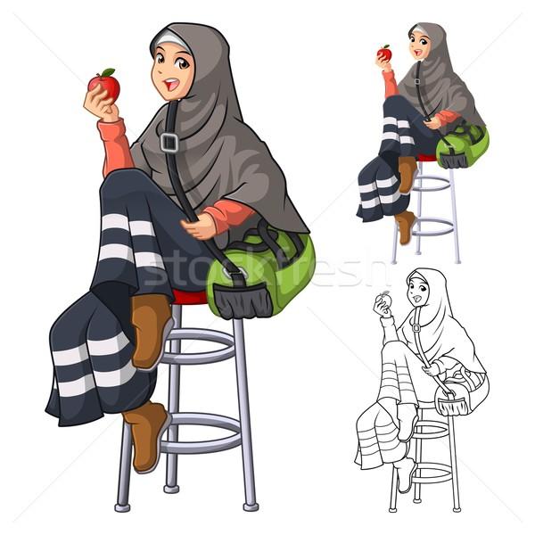 Musulmanes mujer moda velo bufanda Foto stock © ridjam
