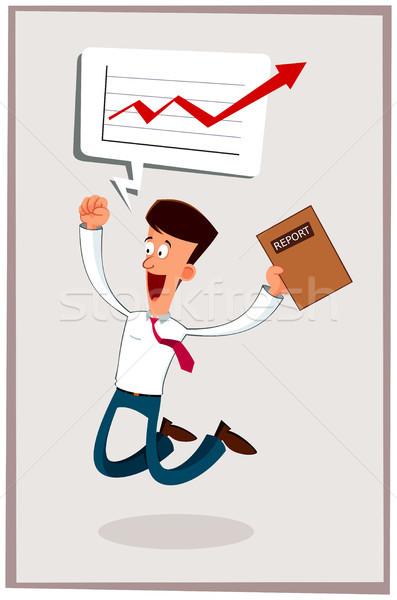 happy businessman Stock photo © riedjal