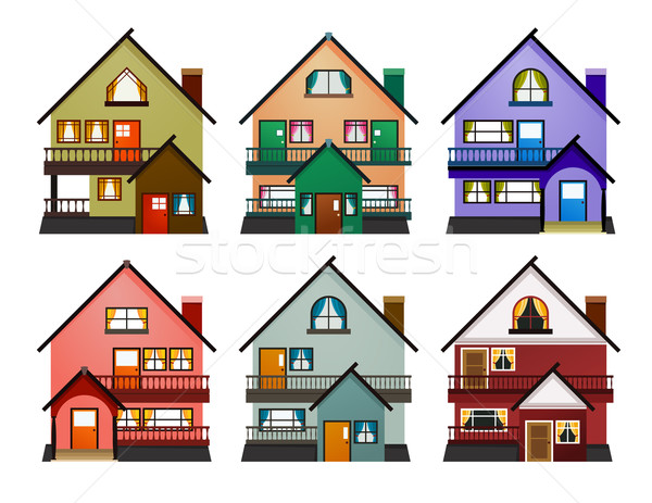 мнение различный современных домах Сток-фото © riedjal