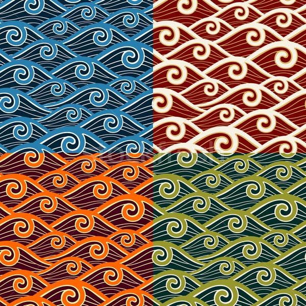 Modello onda colore acqua texture sfondo Foto d'archivio © riedjal