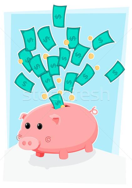 Cute деньги Сток-фото © riedjal