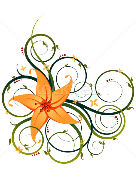 floral ornament Stock photo © riedjal