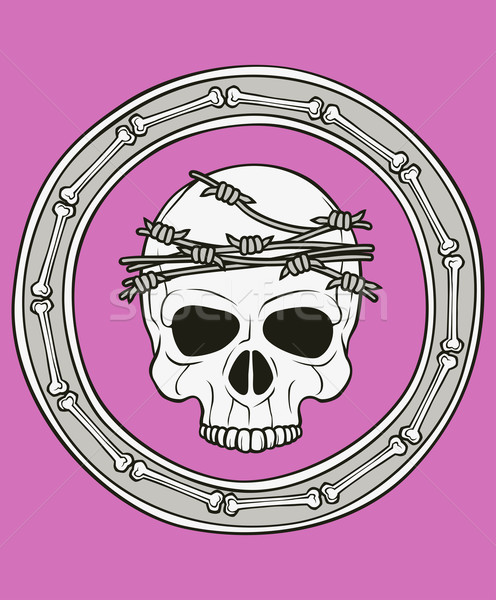 monochrome skull illustration Stock photo © riedjal