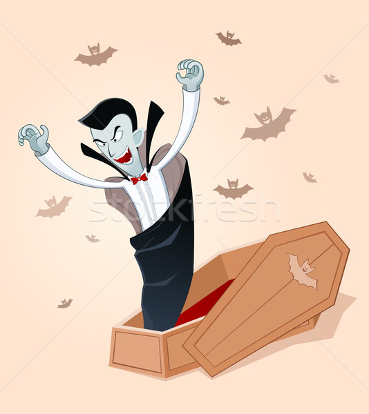 awakening vampire Stock photo © riedjal