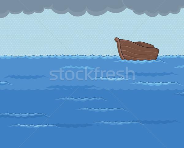 雨の 海 暗い 雲 空 ストックフォト © riedjal