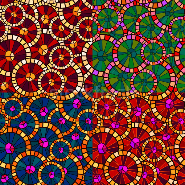 Rundschreiben Muster abstrakten unterschiedlich Farbe Textur Stock foto © riedjal