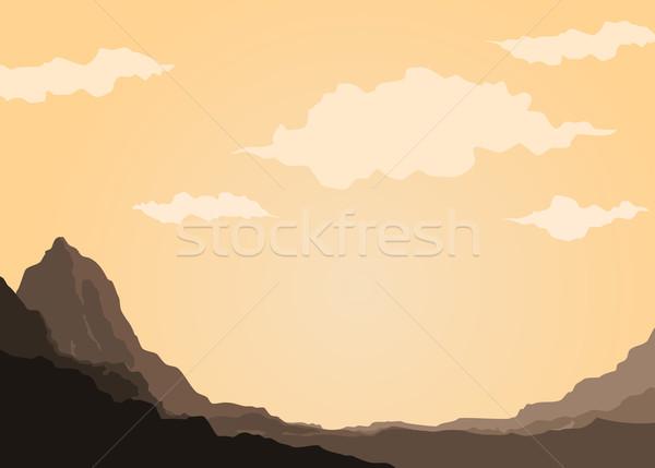 Mountain of Rock Stock photo © riedjal