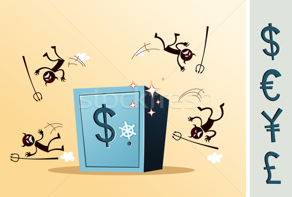 safe deposit box protected from thief Stock photo © riedjal