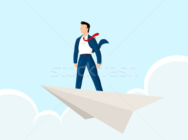 paper plane  Stock photo © riedjal